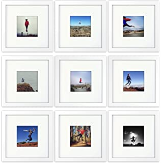 9 set tiny mighty frames wood square instagram photo frame - White Picture Frame Set