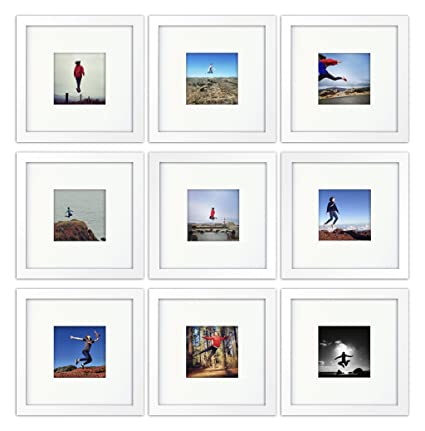 Amazon.com - 9-set, Tiny Mighty Frames - Wood, Square, Instagram ...
