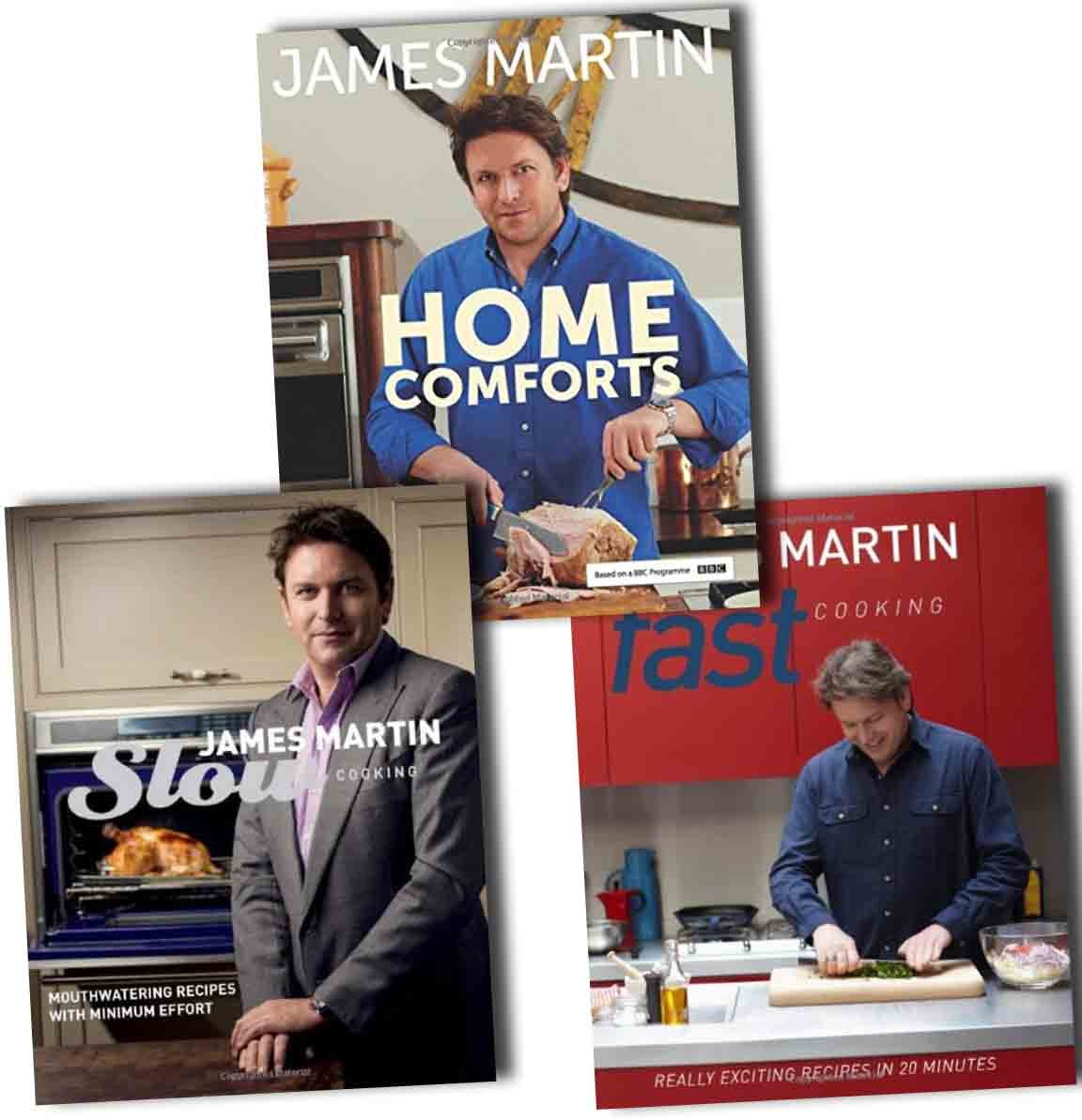 James Martin Cook Book Collection 3 Books Pack Set (Fast Cooking: Really Exciting Recipes in 20 Minutes, Slow Cooking: Mouthwatering Recipes with Minimum Effort, Home Comforts) pdf epub