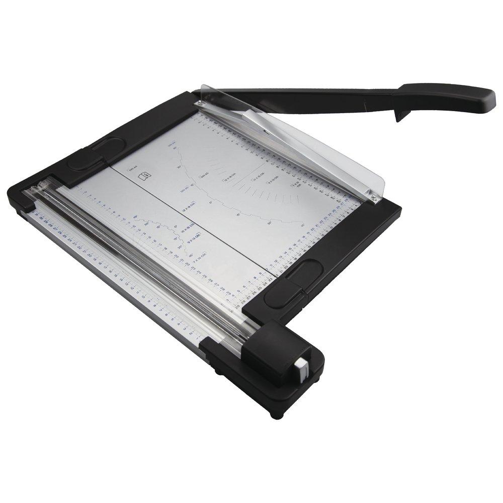 RAYHER 69133000Trimmer 2in 1Lever + Wheels Cutter Papier Mache, Clear/Black 560x 290x 21cm