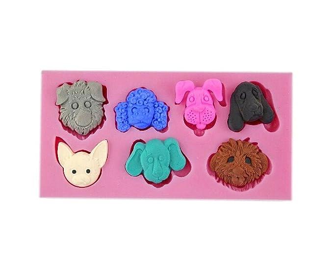 Auket 7 perrito perro gato tarta de Sugarcraft de base de decoración de pastel-Molde