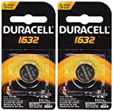 Image of 2 Pcs Duracell CR1632 1632 Car Remote Batteries
