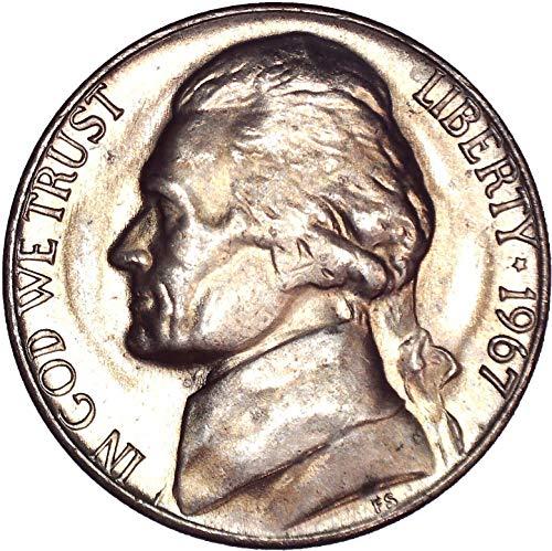 1967 Jefferson Nickel 5C Brilliant Uncirculated (Ngc Nickel Jefferson Mint)
