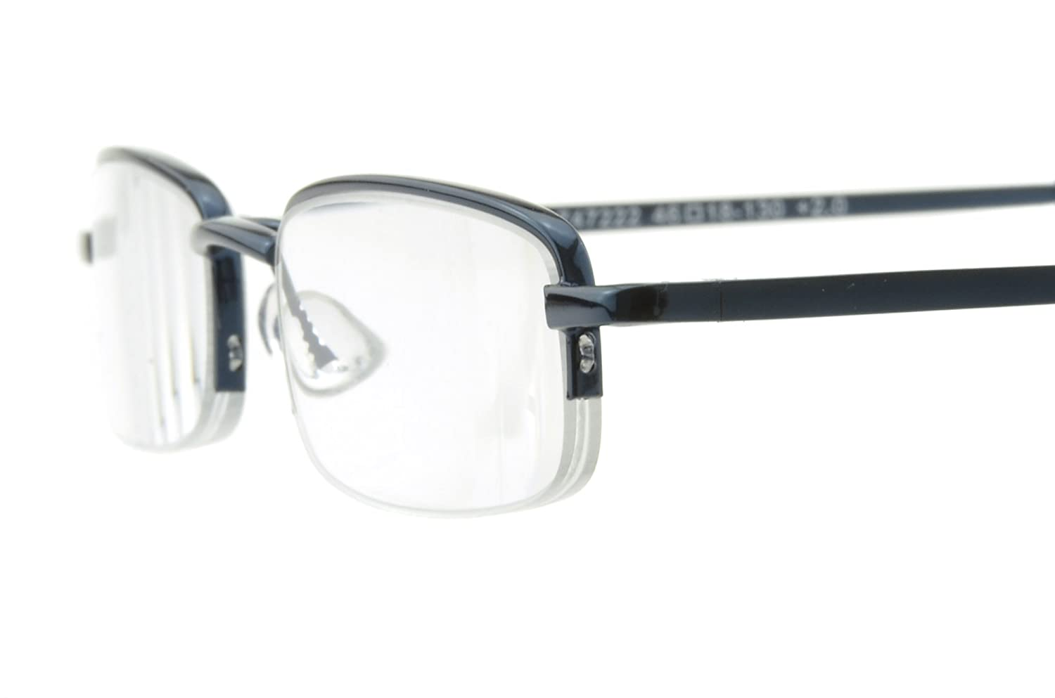 a4f126d24e Edison King Reading glasses semi rimless - in a narrow design with a matching  case - in an array of colors and sizes  Amazon.co.uk  Sports   Outdoors