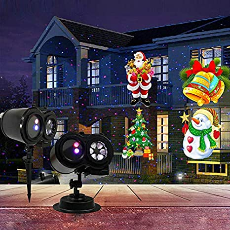 seenroou 2018 new indoor outdoor waterproof christmas led projector lights ocean landscape projectorlawn - Christmas Led Projector