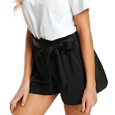 último estilo nueva especiales colores armoniosos PAOLIAN Pantalones Cortos para Mujer Verano 2018 Casual ...