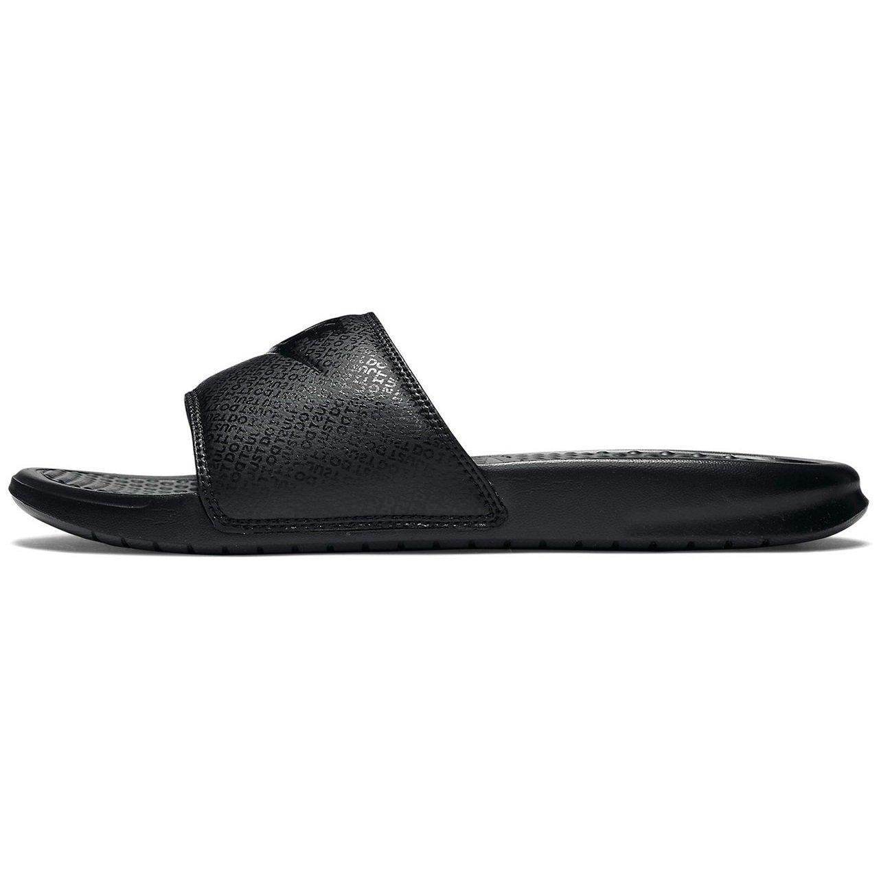 reputable site 9869f b1130 Galleon - Nike Mens Benassi JDI Black Black Black Size 14