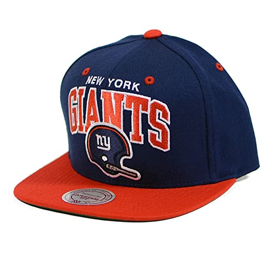 ee35aaacece Image Unavailable. Image not available for. Color  New York Giants Mitchell    Ness Throwback Arch Helmet Logo Snapback Cap