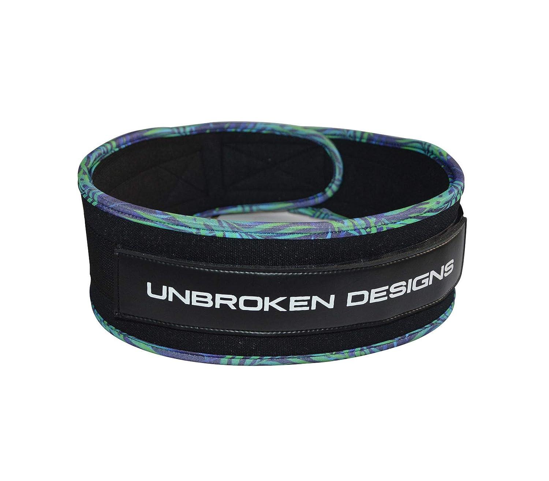 Unbroken Designs Cintur/ón de Velcro para Levantamiento de Pesas dise/ño de Paradise City 10,16 cm