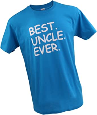 Baosity Best UNCLE Ever Funny Greatest Niece Nephew Tee T Shirt Blue