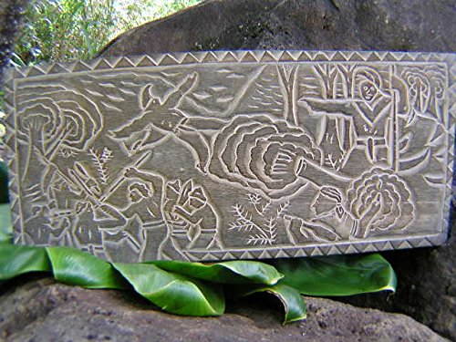 EL - KING KAMEHAMEHA - HAND CARVED STORYBOARD (Carved Channel)