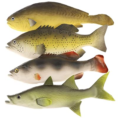 Gresorth 4 PCS Fake Fish Food Decoration Home Party Kitchen Shop Display Lifelike Toys Model: Toys & Games
