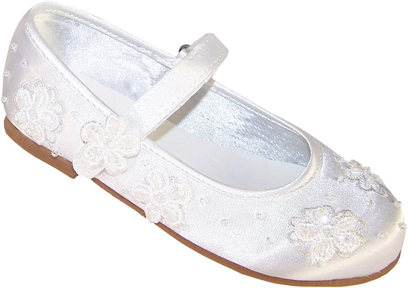 white girls size 3 communion shoes