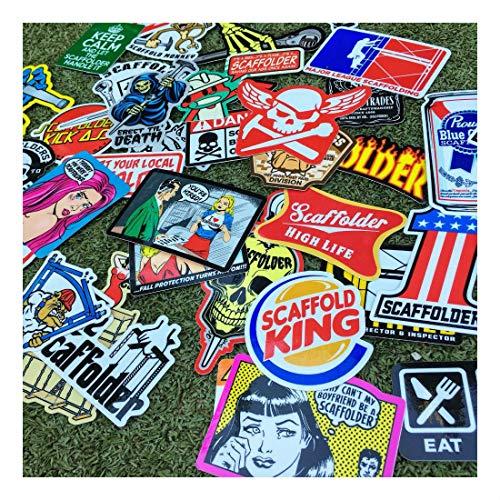 (40+) Scaffolder Hard Hat Stickers Hardhat Sticker & Decals, Scaffold Carpenter by Unknown (Image #6)