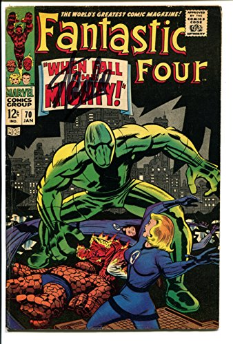 Stan Lee Fantastic 4 #70 1968 Signed / Autographed Original Comic First Print. First Adam Warlock. Infinity wars. Includes Fanexpo Certificate of Authenticity and Proof of signing. Entertainment Autograph Original. Dr Doom, Reed Richards