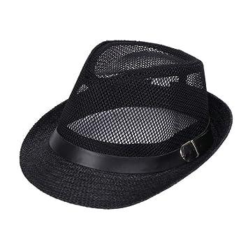 QEERT Sombrero Hombres Mujeres Verano Sombrero de Paja Sombrero de ...