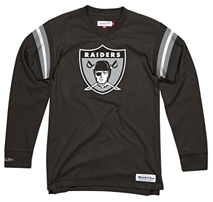 91c862ece0b Image Unavailable. Image not available for. Color  Mitchell   Ness Oakland  Raiders NFL Men s Team Captain Long Sleeve Shirt