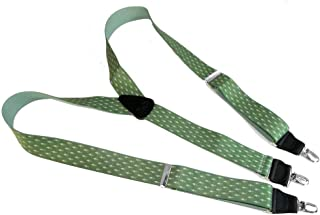product image for HoldUp Brand Grecian Diamond Pattern Y-back Men's Suspenders with No-slip Silver Clips