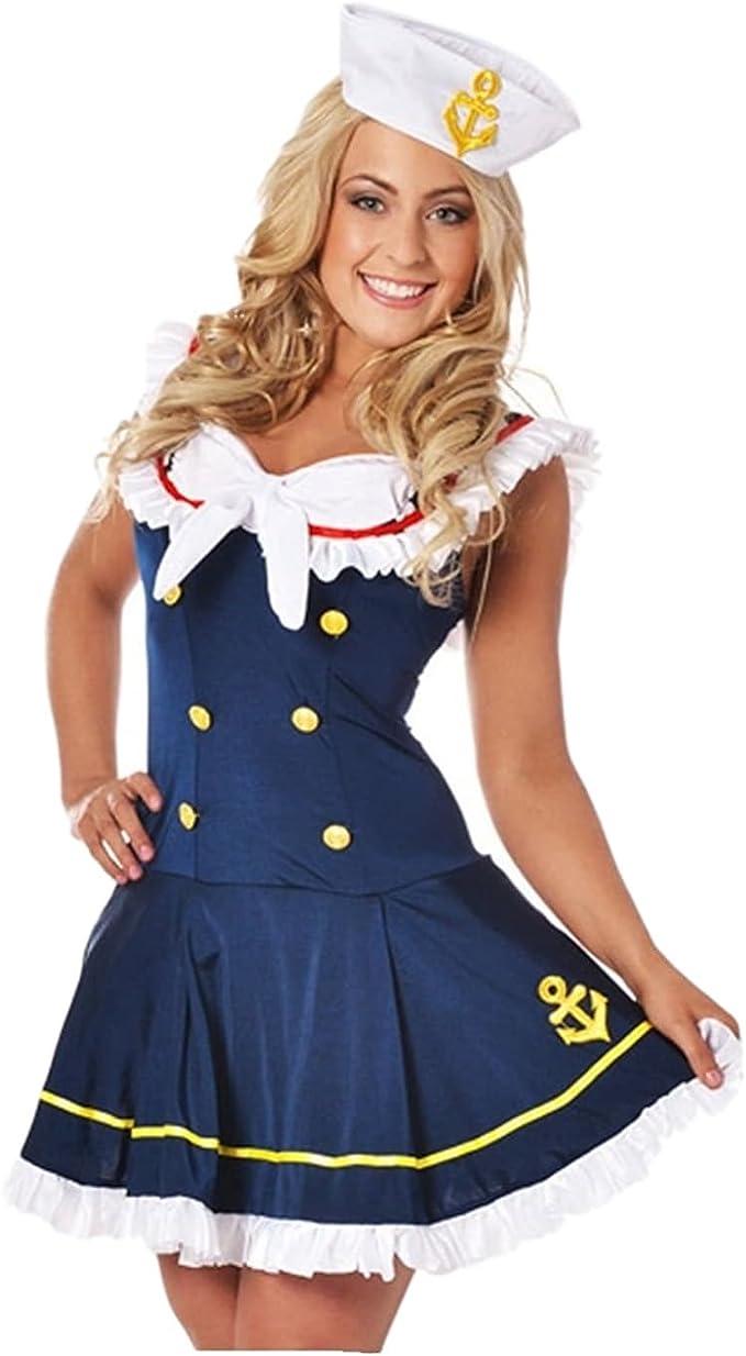 Uniforme de marinero para mujer, fantástico vestido de moda ...