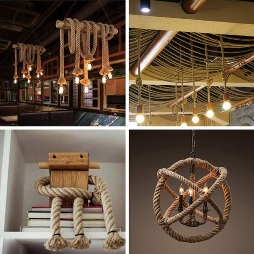 Bundled Packing Rope Decorative Rope Jute Rope Nylon Rope String 20MM//5-30M Size : 20MM//5M Hemp Rope