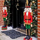 SET OF 2 36'' Indoor Outdoor Nutcracker Toy Soldier Statue Porch Christmas Decoration