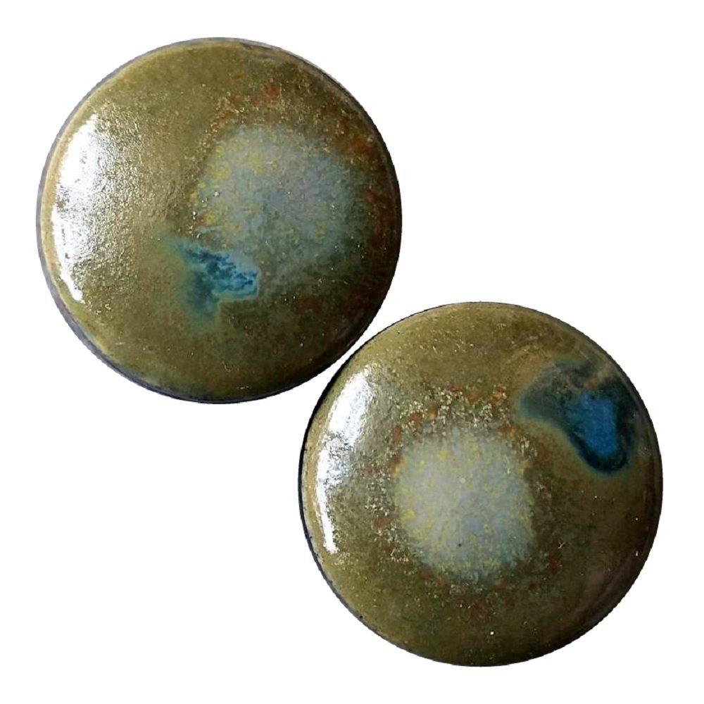 ペア – Moss CreekガラスEssential Oil Ear Plugs Organicハンドメイドセラミックdouble-flaredボディジュエリー 19mm l 3/4インチ  B01BK4DOIY