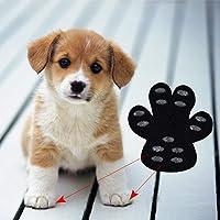 AGAWA Protector de huellas de perro, paquete de 16 almohadillas antideslizantes para tracción de mascotas, zapatos desechables autoadhesivos para perros en suelos duros, Como se muestra, xl