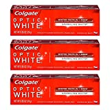 Colgate Optic White Toothpaste Sparkling Mint 0.85 Oz Travel Size (Pack of 3)