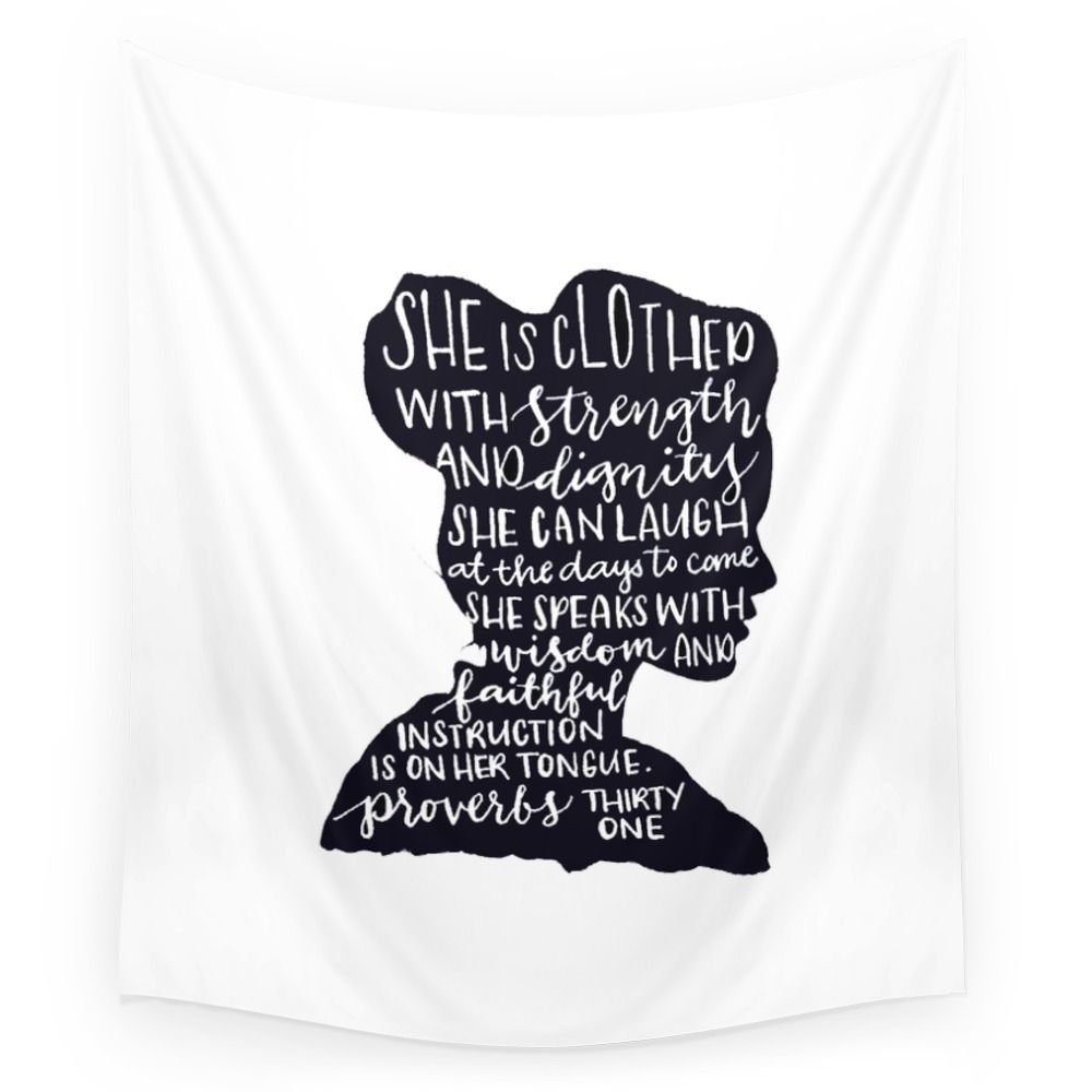 Society6 SHE IS Wall Tapestry Small: 51'' x 60''