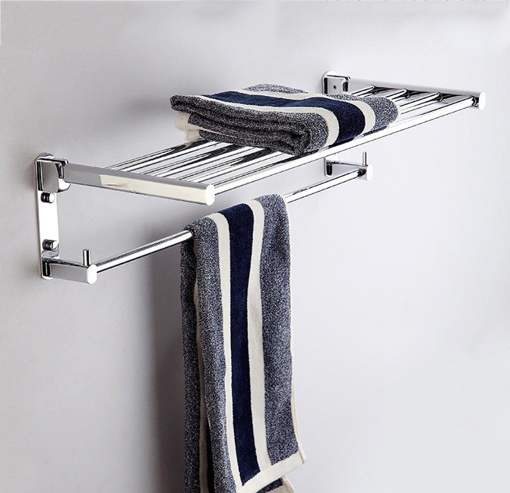 タオル掛け タオルラックフル銅肥厚大胆な折り畳みバスルームの棚バスルームのペンダントの棒 タオルスタンド (サイズ さいず : 70センチメートル) B07DWY4XGD 70センチメートル 70センチメートル