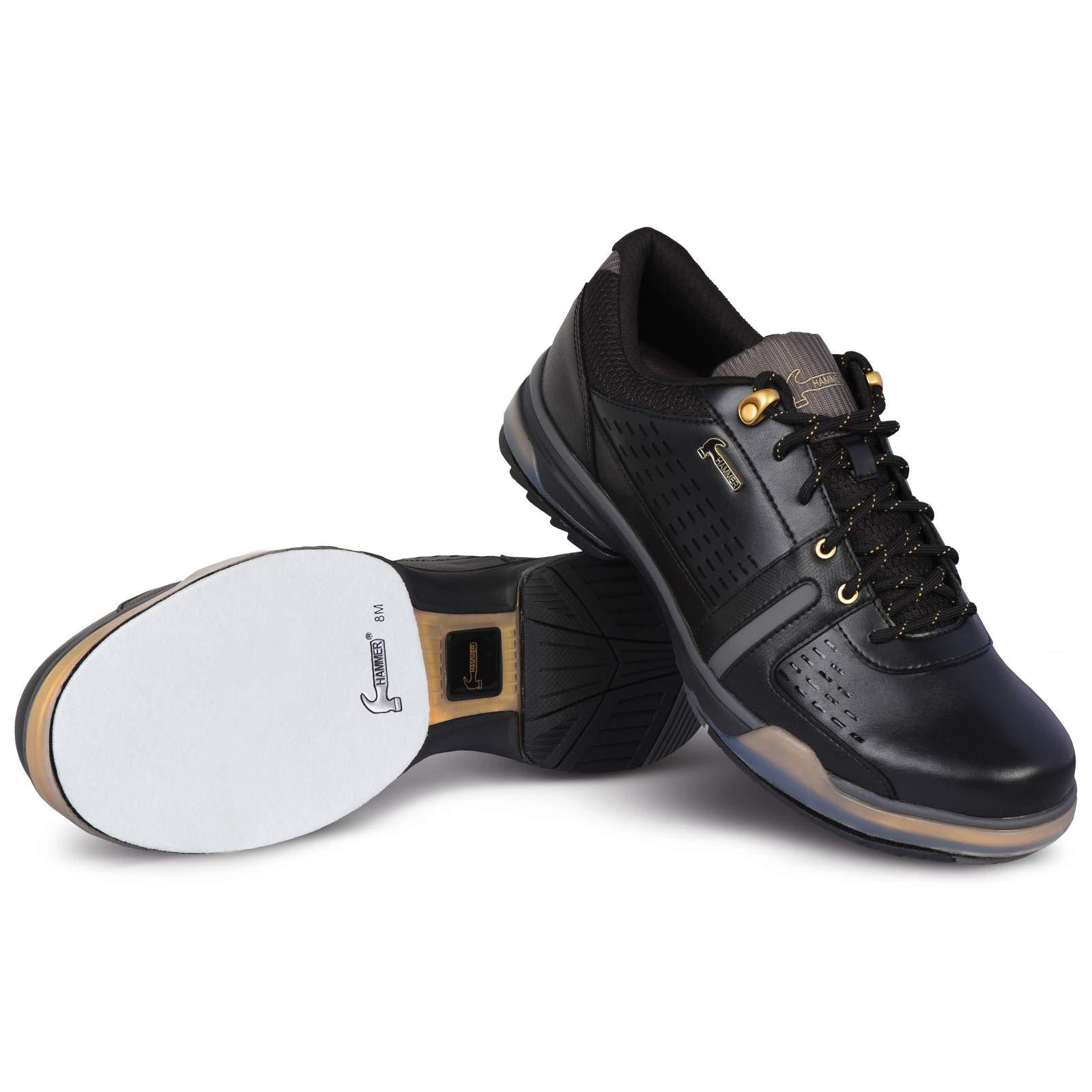 KR Strikeforce Hammer Boss Wide Width Black/Gold Performance Bowling Shoes Men's Size 11