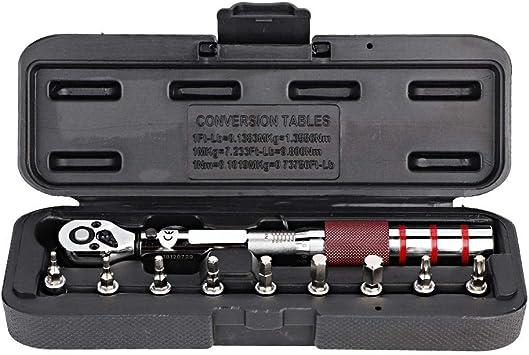 Suuonee Chiave dinamometrica set di chiavi dinamometriche a cricchetto 1//4 professionale Kit da 2-15nm per manicotto di bicicletta