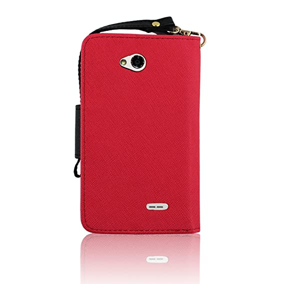 4e4b94bbbe91 Amazon.com: CP 3 in 1 2-Tone Wallet Case with Wrist Strap for LG ...