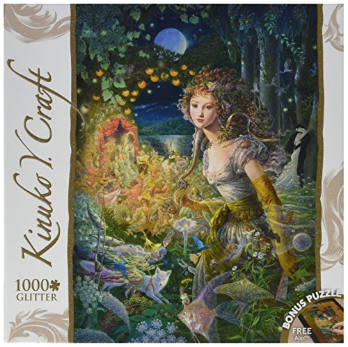 MasterPieces Wildwood Dancing Kinuko Craft Glitter Jigsaw Puzzle, 1000-Piece