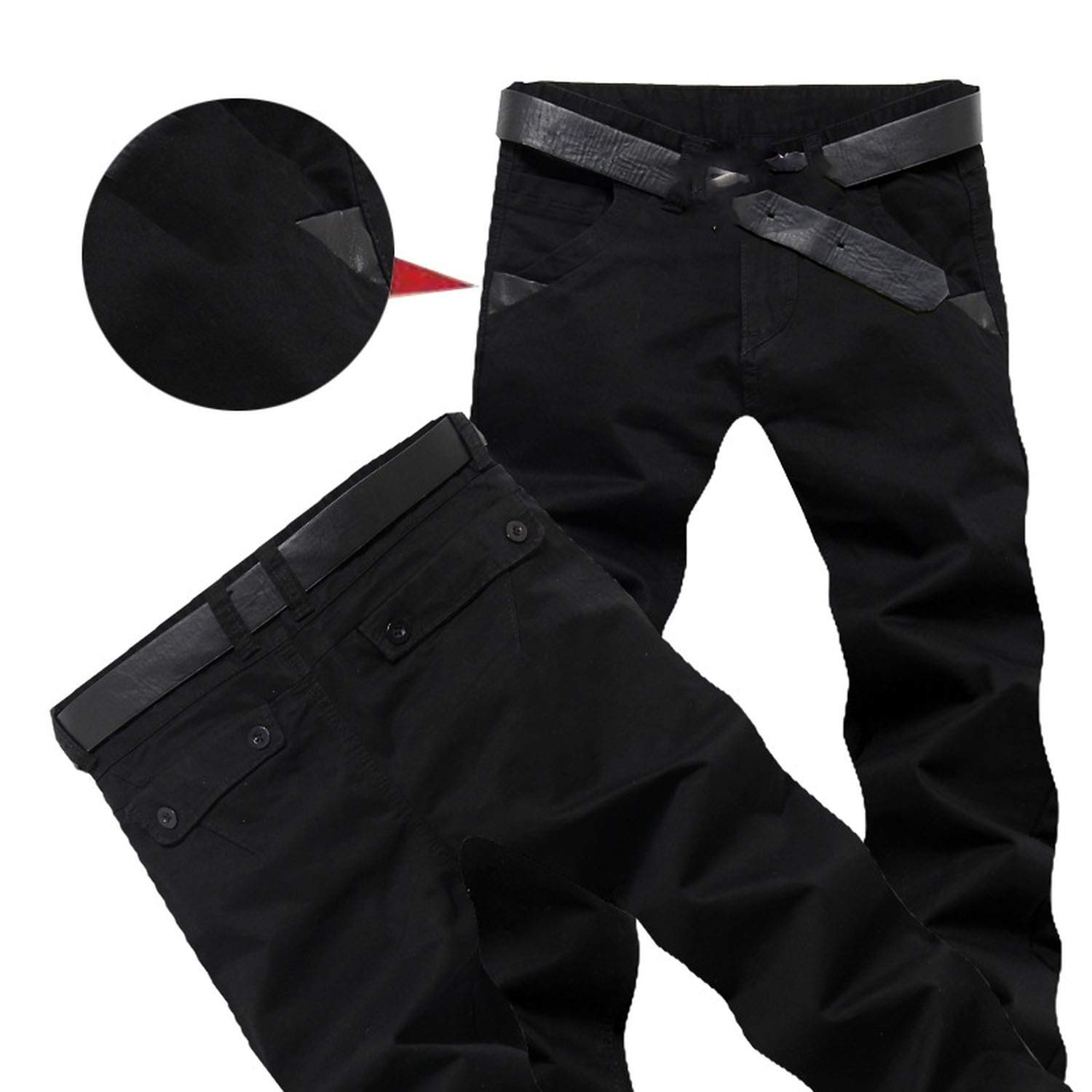 Spring Summer Casual Pants Work Pants Slim Fit Cotton Chinos Formal Trousers Male