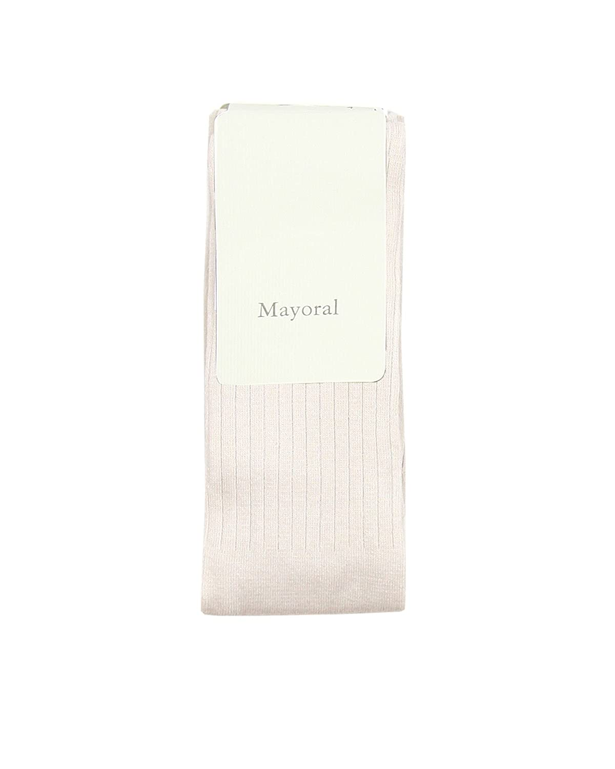 Mayoral Girl's Rib Knit Tights Beige, Sizes 4-9