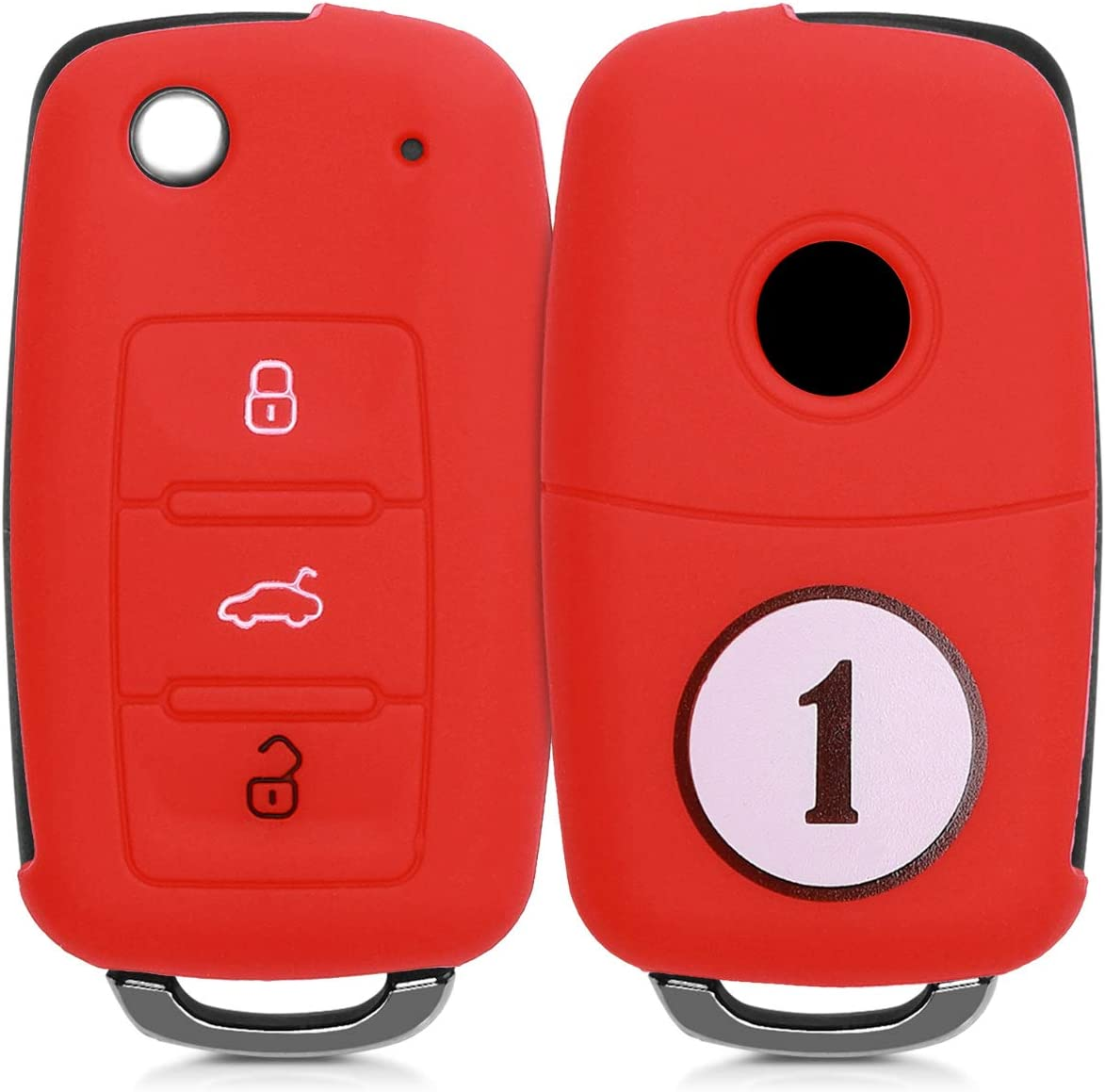 Starting Number 1 kwmobile Car Key Cover Compatible with VW Skoda Seat