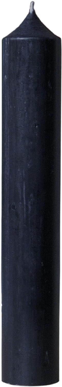 Alterras Gro/ße Kerze schwarz H: 25cm, /Ø: 4cm Stabkerze