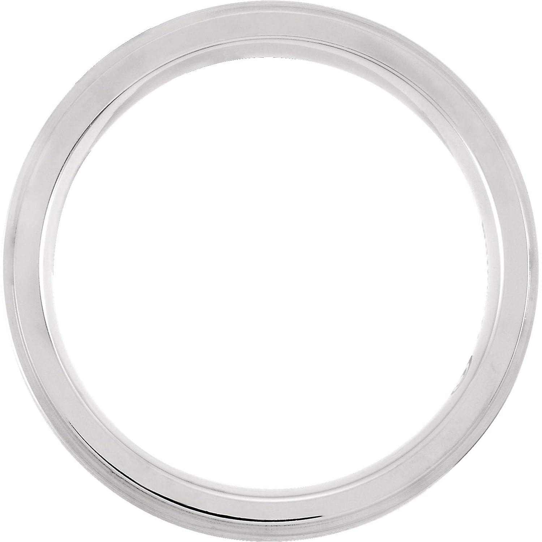 Bonyak Jewelry Titanium 7 mm Ridged Oxidized and Polished Band Size 8 in Titanium