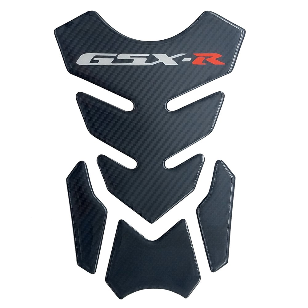 Carbon Fiber Motorcycle Tank Protector 8.6'' Pad For Suzuki GSXR 600 750 1000 Gixxer Models YUD