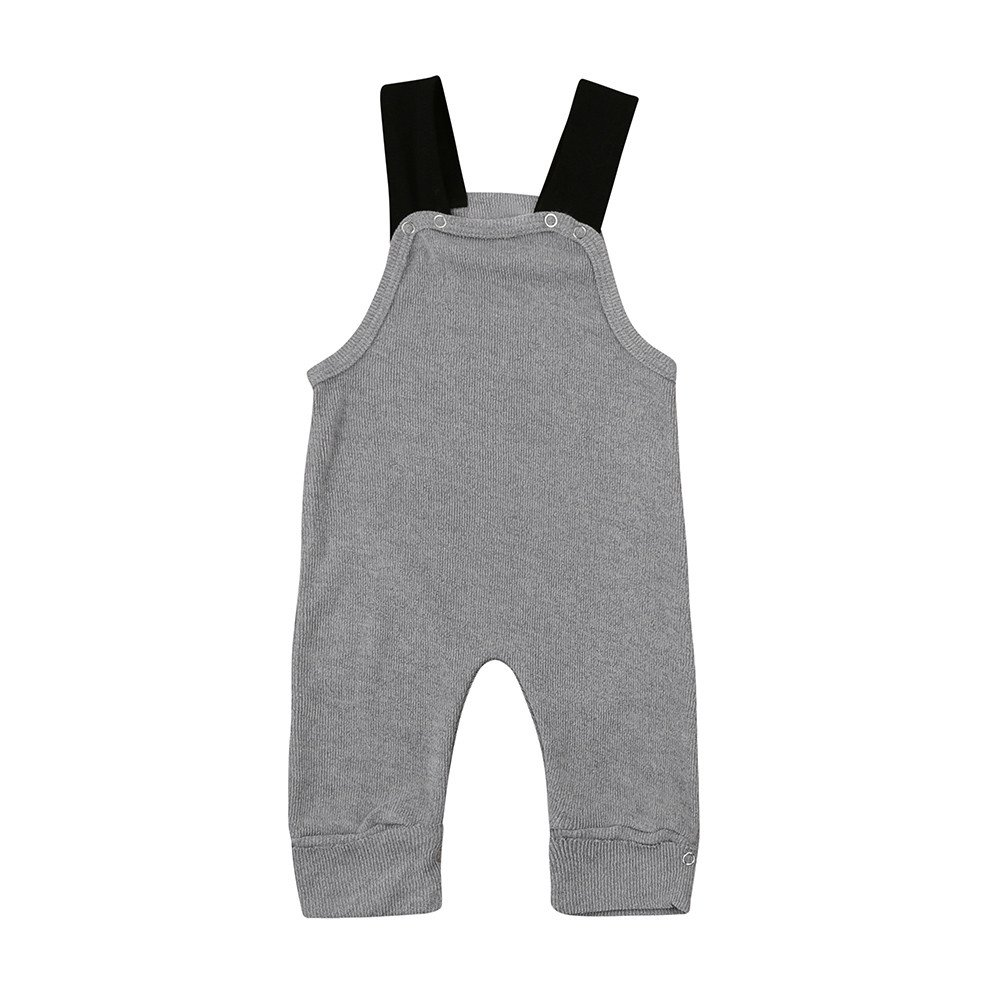 Kehen Infant Baby Toddler Girl Boy Strap Rompers Jumpsuit Knitted Overalls Long Pants Spring Summer Clothes