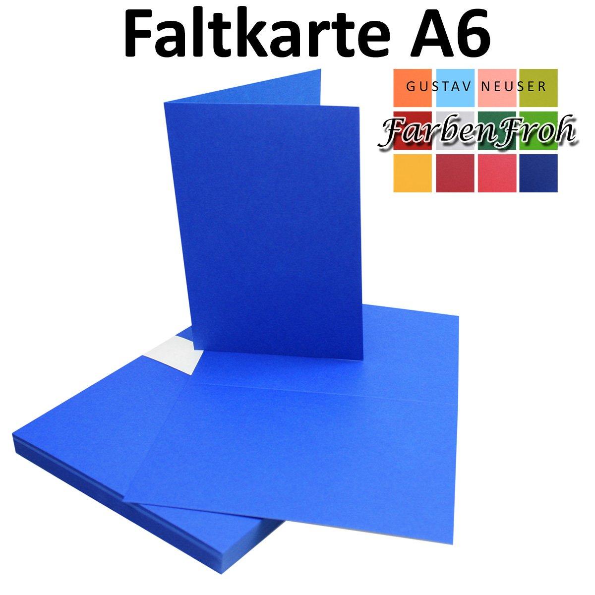 150x Falt-Karten DIN A6 Blanko Doppel-Karten in in in Vanille -10,5 x 14,8 cm   Premium Qualität   FarbenFroh® B079VKTK7Y | Tragen-wider  9d4977