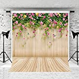 Kate10x10ft Spring Photography Backdrop Wood Wall Background Microfiber Seamless Backdrops