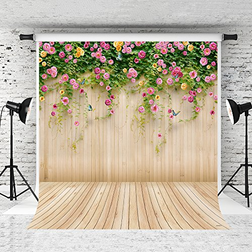 Kate10x10ft Spring Photography Backdrop Wood Wall Background Microfiber Seamless Backdrops by Kate (Image #7)