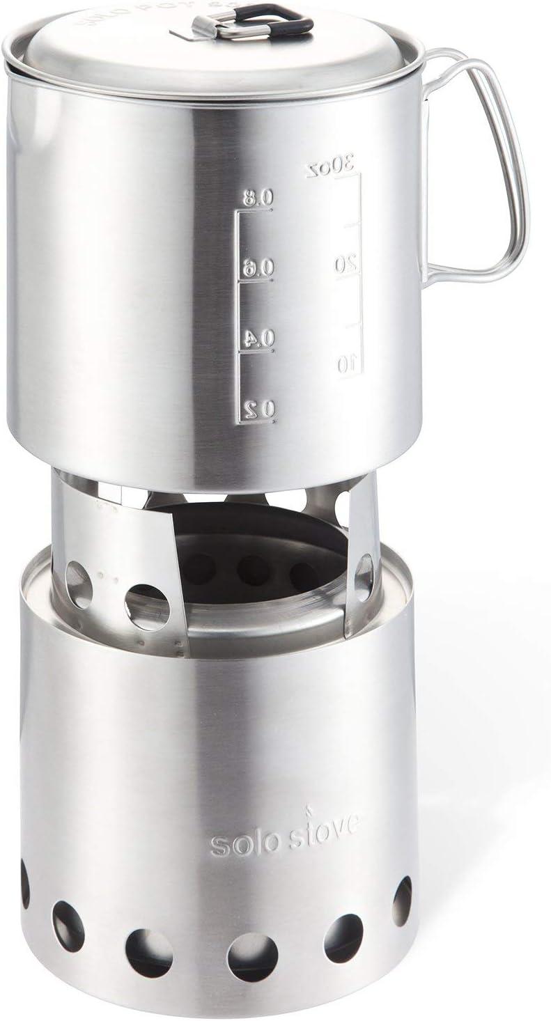 Light Da Solo Stove Kit Combo Ramoscello che Brucia Gasifier S Stufa E Pot 900 ☦