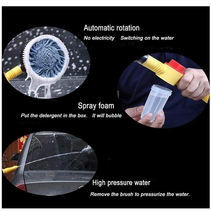 360 ° Rotación Automática Cepillo De Lavado De Autos Ventana Herramienta De Limpieza Para El Hogar Manija Larga Ajustable Lavado De Autos Fregona De Lavado ...