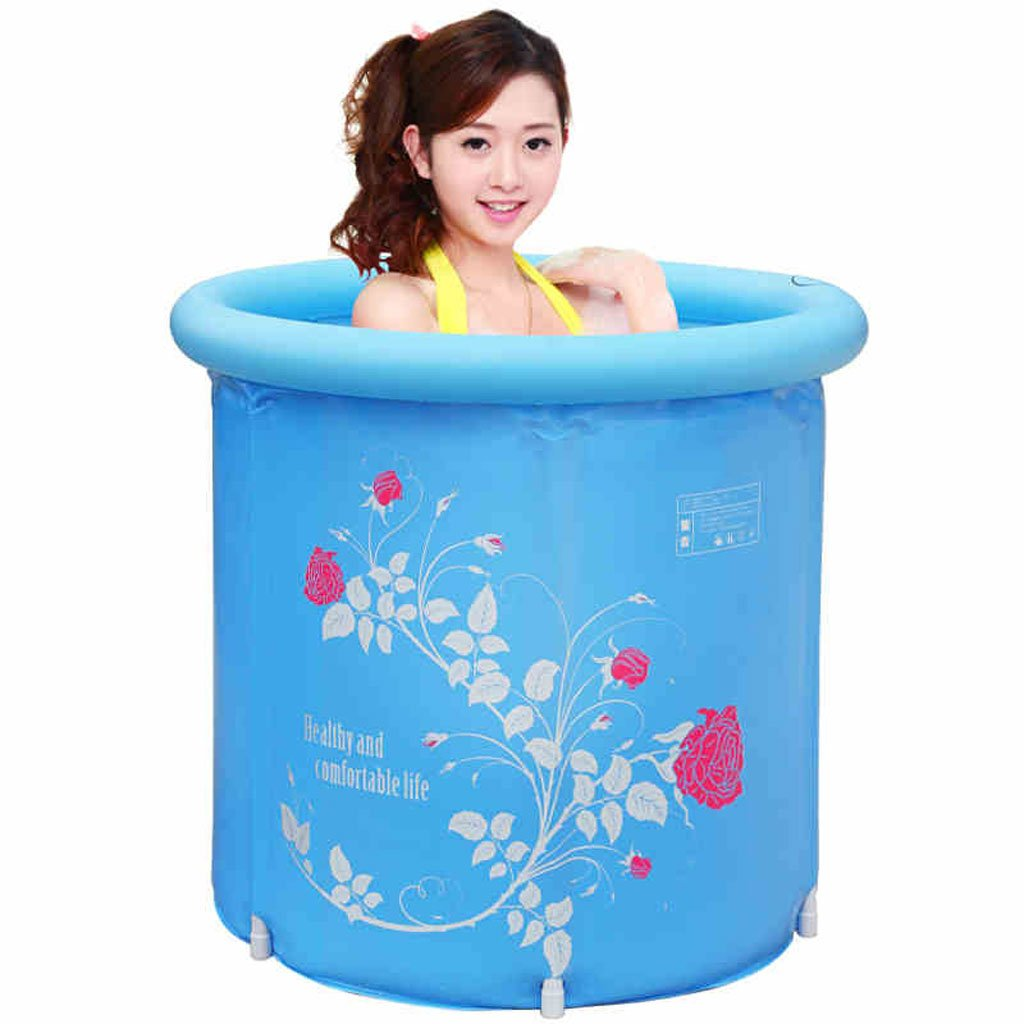 ZH1 Planschbecken Bad Barrel Erwachsenen Klappbad Eimer Aufblasbare Badewanne Kunststoffwanne Gepolsterte Badewanne Erwachsene Badewanne (Design   A)  A