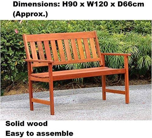 Muebles de jardín de madera maciza Yakarta banco de madera fácil de montar: Amazon.es: Jardín