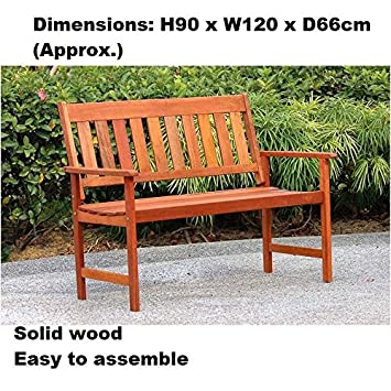 Garden Furniture Solid wood Jakarta Wooden Bench Easy to assemble ...