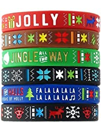 Ugly Sweater Silicone Bracelets (6-pack) - Christmas...